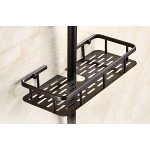 Bath Shelf for Bathroom Oil Rubbed Bronze Craft Black Retro Towel Rack