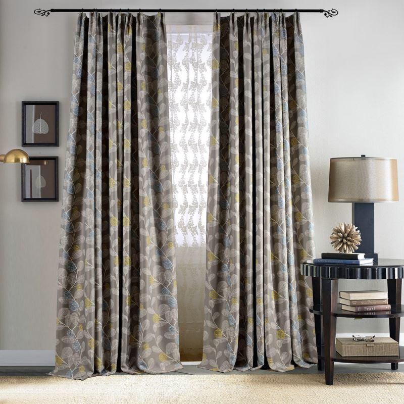 Vorhang Mit Kaktus Muster Aus Polyesterfaser 8