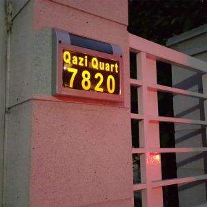Solar Candle Door Plate Lamp Outdoor Solar Powered House Number Light LEH-56067SW