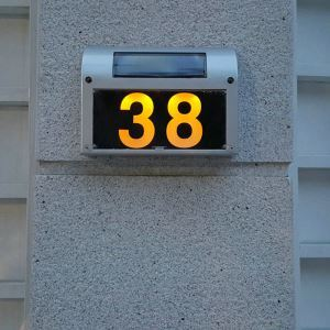 Solar Candle Door Plate Lamp Outdoor Solar Powered House Number Light LEH-56066SW