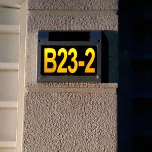 Solar Candle Door Plate Lamp Outdoor Solar Powered House Number Light LEH-56067SG
