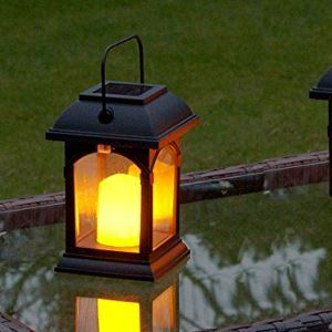 Solar Candle Lantern Outdoor Decorative Solar Powered Candle Light LEH-55155
