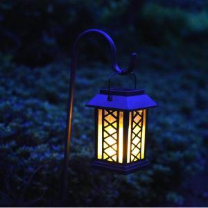 Solar Candle Lantern Outdoor Decorative Solar Powered Candle Light LEH-55154G