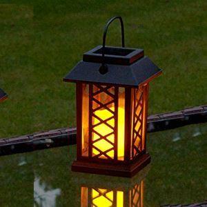 Solar Candle Lantern Outdoor Decorative Solar Powered Candle Light LEH-55154W