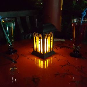 Solar Candle Lantern Outdoor Decorative Solar Powered Candle Light LEH-55153