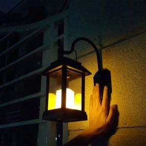 Solar Candle Lantern Outdoor Decorative Solar Powered Candle Light LEH-55143W