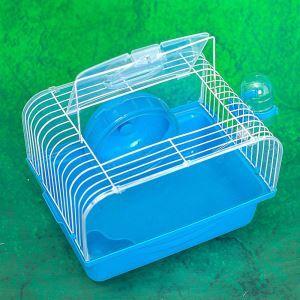 Hamster Cage Habitat Shelter Playground Blue
