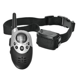 Anti Bark Training Collar Rechargeable Pet Trainer Stop Bark Ultra Far Control Silver