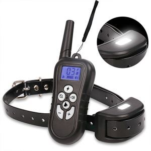 Dog Training Collar Electronic Dog Trainer Remote Pet Training Supplies Wireless Stop Bark Device