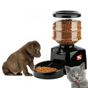 5.5L Automatic Pet Feeder Electronic Control Feeder with Big LCD Screen and Voice Record