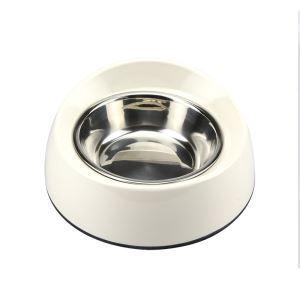 Anti-skid Pet Feeding Bowl Dog Cat Food Bowl White S