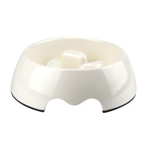 Pet Dog Bowl Heat-Resistant Pet Pot Eating Drinking Feeding Pet Tool White M