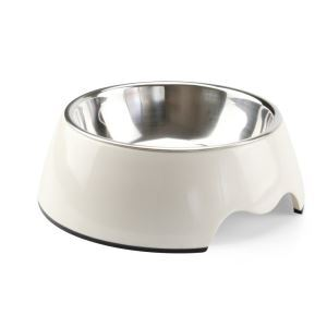Stainless Steel Dog Bowl High Quality Detachable Antiskid Pet Bowl White L