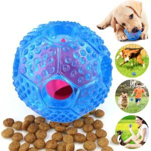 Pet Feeder IQ Treat Ball Food Dispensing Toys Blue