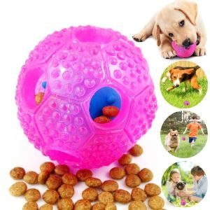 Pet Feeder IQ Treat Ball Food Dispensing Toys Pink
