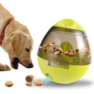 Pet Feeder Fun and Interactive Treat-dispensing Ball for Dogs and Cats Green