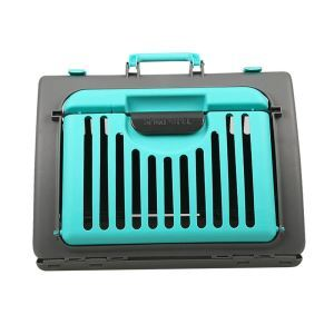 Pet Travel Carrier Transport Cage Foldable Portable Animal Carrier Bag Side Opening Breathable