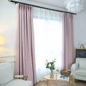 Light Pink Blackout Curtain Room Darkening Curtain for Kids Room Living Room Bedroom