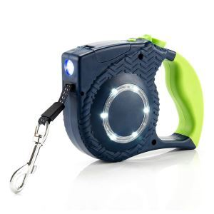 Stripes Pet Leash LED Lights Retractable Dog Leash
