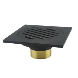 Square Floor Drain Simple Copper Bathroom Accessory 64-7409