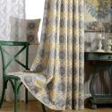Yellow Blackout Curtain Cotton and Linen Priting Window Curtain Panel