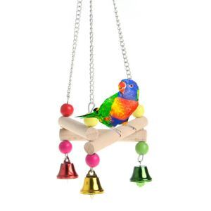 Parrot Swing Wooden Triangular Platform