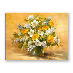 Frameless Oil Painting Vase Modern Minimalist Canva