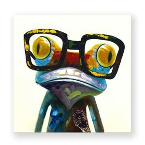 Cute Frog Frameless Oil Painting Modern Minimalist Canvas Micro-spray Home Restaurant Living Room Porch Painting