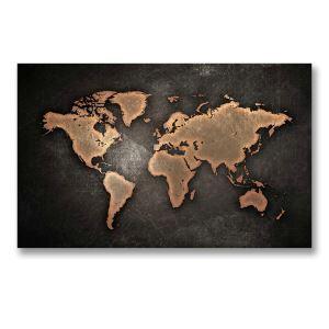Frameless Oil Painting Map Modern Minimalist Canva 12