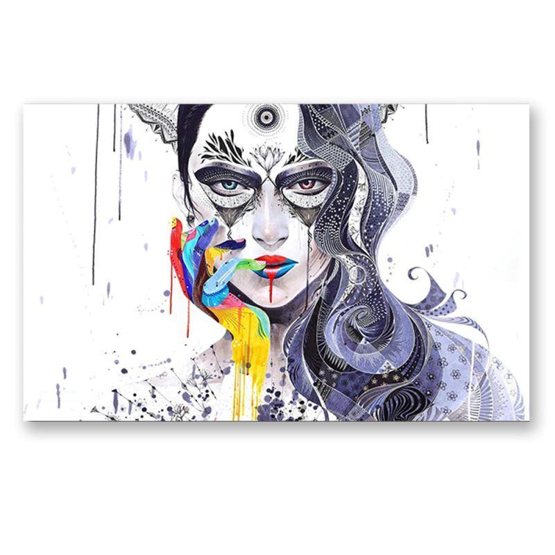 Frameless Oil Painting Girl Modern Minimalist Canva