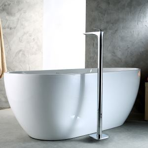 Floor Mounted Bathtub Faucet Chrome Free Standing Bathroom Tub Filler 18D025