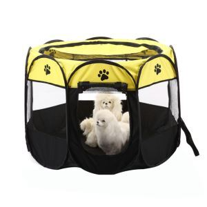 Pet Octagon Cage Collapsible Pet Oxford Cloth Octagonal Tent