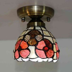 (In Stock) Mini Shell Tiffany Ceiling Light