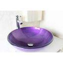 Modern Fashion Round Purple Tempered Glass Basin