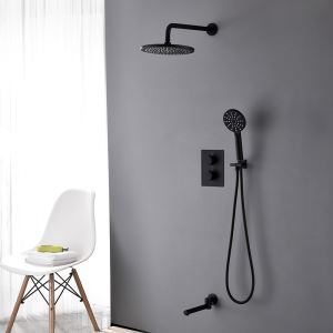 Thermostatic Shower Faucet Baking Vanish In-Wall Shower Bathroom Shower Faucet