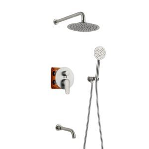 Bathroom Shower Faucet Set 304 Stainless Steel In-Wall Shower Faucet