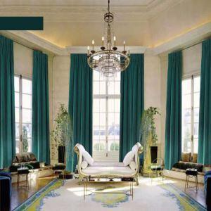 European Style Velvet Curtain Custom Made Size Multi Colors of Selection