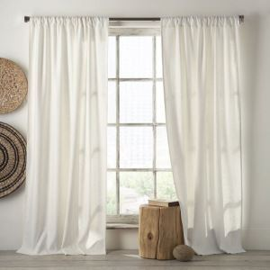 Modern Simple Solid Color Cotton and Linen Curtain Advanced Custom Curtains
