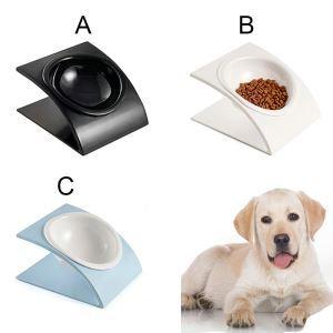 Upscale Pet Bowl Melamine Tilted Single Bowl