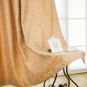 American Abstract Style Curtain Brown Geometry Pattern Curtain Chenille Jarquard Blackout Fabric(One Panel)