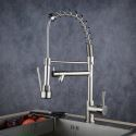 Contemporary Sprayer Kitchen Tap Brushed Single Handle Faucet BL0783SN
