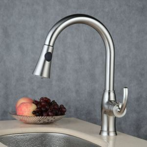 Pull-Down Sprayer Kitchen Faucet Brushed Single Handle Faucet BL7523C