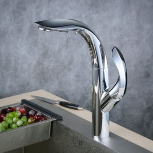 Pull-Down Sprayer Kitchen Faucet Chrome Single Handle Faucet BL8803