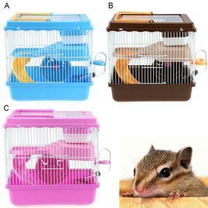 Pet Handheld Castle Little Pet Cage Hamster Two Floors Cage