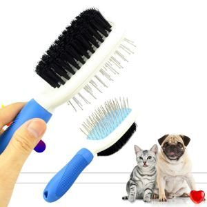 Cats Dogs Cleaning Grooming Comb Double Face Hair Removal Massage Comb Stainless Steel Knot Removal Brush