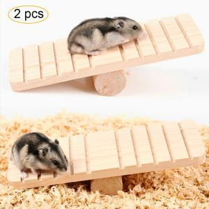 Pet Wooden Seesaw Hamster Cobaya Sports Toy 2 Pcs