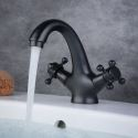 Black Single Hole Bathroom Sink Faucet Oil-rubbed Bronze Water Mixer Tap