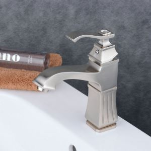 Contemporary Sink Faucet Nickel Brushed Sink Faucet Single Handle Tap BL6311N