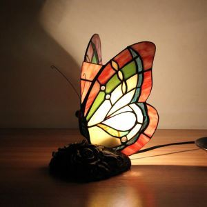 Animal Lamp Animal Style Butterfly Tiffany Table Lamp