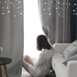 Modern Creative Curtain Solid Hollow Star Curtain(One Panel)